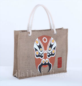 Cotton Handle Women Fashional Jute Bags/Tote Bag/Sack (hbjh-21) pictures & photos