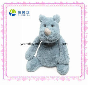 Fluffy Rhino Plush Animal Toy pictures & photos