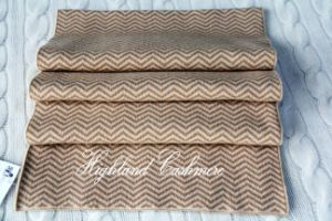Cashmere Knitted Scarf with Jacquard Herringbone Pattern Ckjs1102 pictures & photos