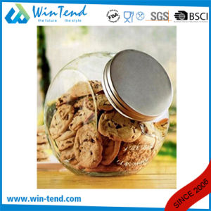 Wholesale Kitchen Storage Glass Jar Canister with Screw Glass Lid pictures & photos