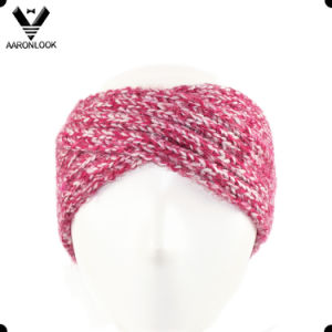 Lady′s Fashion Winter Warm Cross Knitted Crochet Headband pictures & photos