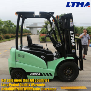 Small 2 Ton Electric Battery Forklift for Sale pictures & photos