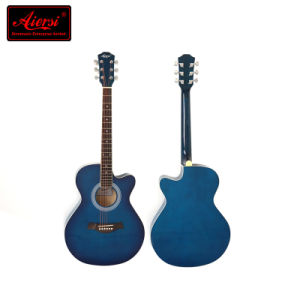 China Aiersi Brand Beginner Kids Color Cutway Acoustic Guitar pictures & photos