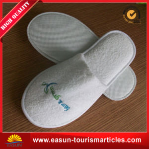Printing Towel Plush Slippers for Airline pictures & photos