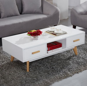 MDF Wooden Living Room Furniture 4 Drawers Side Coffee Table (HX-UL020) pictures & photos