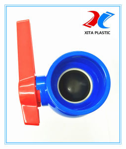 DIN Standard PVC Ball Valve with 110mm Blue Color pictures & photos
