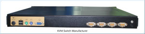 "1/4/8/16ports 1u Rack Mount 19′′ LED VGA Kvm Switch with 15"" LED Monitor pictures & photos"