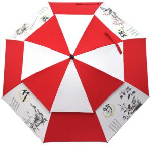 Windproof Double Layer Golf Umbrella pictures & photos