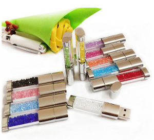 Jewelry Crystal USB Flash Drive for Gifts Flash Memory pictures & photos