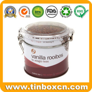 Round Tea Tinplate Box, Metal Tea Caddy, Tea Tin Box pictures & photos