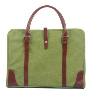 Man Heavy Canvas Laptop Handbag Computer Water Repellen Shoulder Bag (RS-8571B) pictures & photos