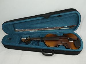 Imitation Figured Maple Antique Solid Body Primary Violin pictures & photos