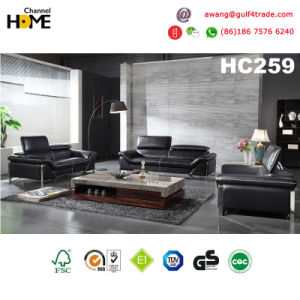 Italian Modern Furniture Red Genuine Leather Sofa Set (HC216) pictures & photos