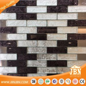 Subway Tile Black and White Golden Foil Glass Mosaic (G827003) pictures & photos