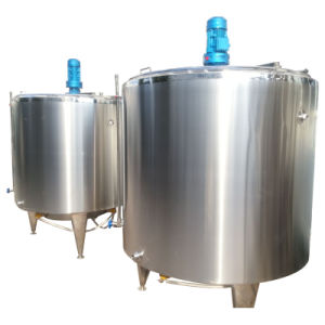 Food Sanitary Stainless Steel 1000L Steam Milk Fermenting Tank pictures & photos