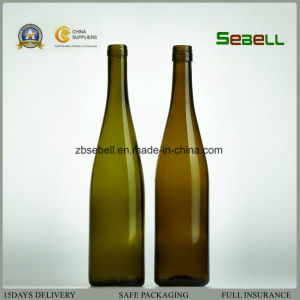 Na031 Wine Bottle, Antique Green 750ml Burgundy Hoch Bottle pictures & photos