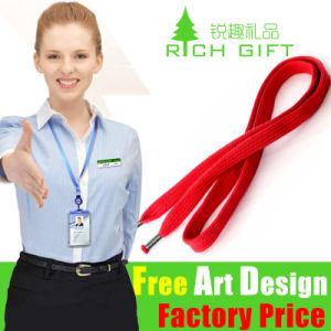 Custom Printing Satin Nylon Lanyard with Plastic Card Holder pictures & photos