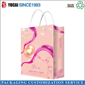Custom Pink Paper Shopping Bag pictures & photos