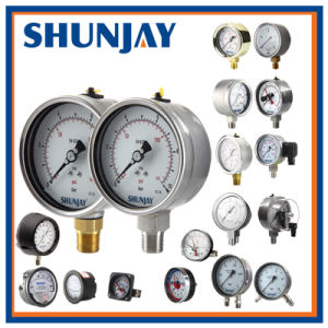 Electrical Contact Pressure Gauge with DIN Design pictures & photos