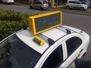 High Brightness 5mm Taxi Top Advertising LED Display pictures & photos