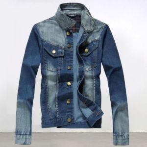 Fashion Slim Men′s Casual Jeans Blue Denim Jacket pictures & photos