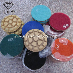 Cr-11 Metal Hybrid Polishing Pad on Sale for Stone Maintenence Service pictures & photos