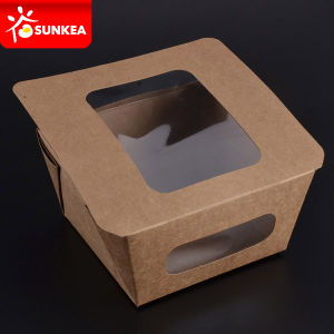 Kraft Paper Food Boxes with Clear Window pictures & photos