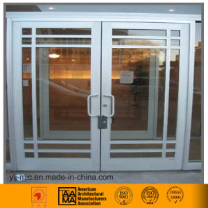 Aluminum Frame Swing Door with Grid Design (6063/6061) pictures & photos