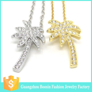 Custom Mixed Gold and Silver Engraved Brand Logo Initial Necklace pictures & photos