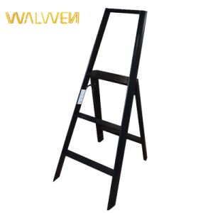 China Supplier 2 Step Household Foldable Ladder with Safe Rail pictures & photos