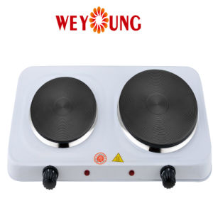 Double Solid Iron Electric Solid Hotplate with Power 1100W and 1500W