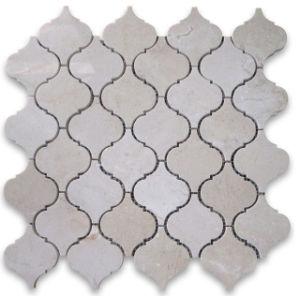 Crema Marfil Arabesque Lantern Design Mosaic Tile pictures & photos