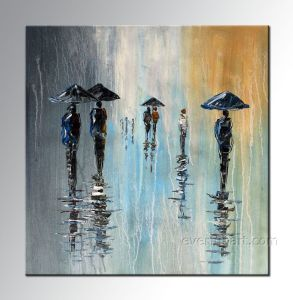 100% Handmade Abstract Oil Painting (KVP-106) pictures & photos