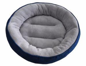 Round Denim & Flannel Dog Bed (WY161027) pictures & photos