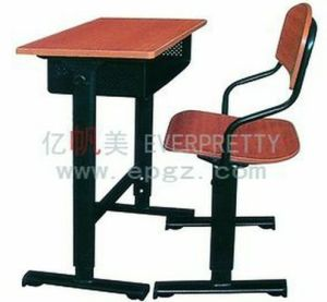Compact School Furniture Chair and Desk Adjustable School Desk and Chair School Furniture Set pictures & photos