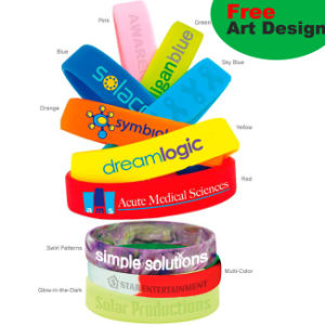Promotion Silicone Bracelet with Customer Logo Printing pictures & photos
