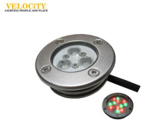 3W/6W Stainless Steel IP68 RGB LED Underwater Lights for Swimming Pool