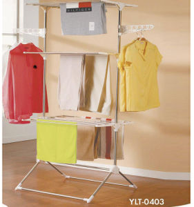 Stainless Steel Tree Layer Cloth Drying Rack pictures & photos
