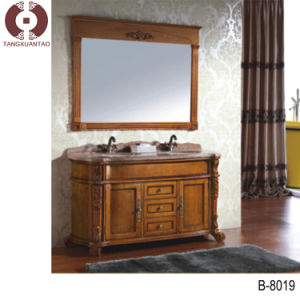 High Selling Bathroom Cabinet New Design Solid Wood Cabinet (B8019) pictures & photos