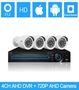 4 CH Ahd DVR Kits, Waterproof Color CMOS 720p, Secuirty Ahd DVR Kit pictures & photos