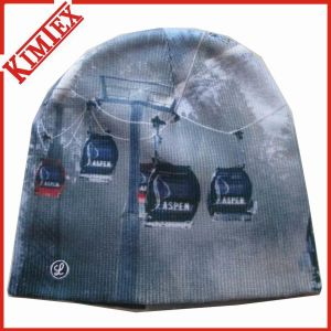 High Quality Acrylic Knitted Sublimation Printing Hat pictures & photos