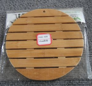 (BC-M1016) Handmade Natural Bamboo Round Heat Insulation Mat pictures & photos