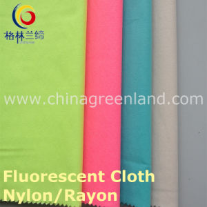 Nylon Rayon 13s/10s Fluoresced Twill Warp Spandex Fabric for Shirt Dress (GLLLDYG001) pictures & photos