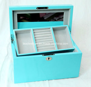 Luxury Wooden Mirror Jewellery Gift Box High Gloss Piano Finish pictures & photos