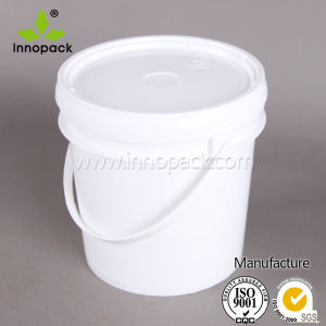 20 L Plastic Pail with White Lid and Handle for Chemical Paint Wholesale pictures & photos