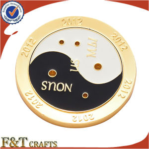 High Quality Die Brass Gold Plated Challenge Metal Souvenir Coins (FTCN1915A) pictures & photos