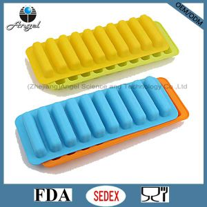 100% Food Grade Silicone Ice Mold for Popsicle Cube Tray Si13 pictures & photos