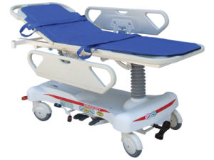 Hospital Hydraulic Rise-and-Fall Patient Stretcher Cart pictures & photos