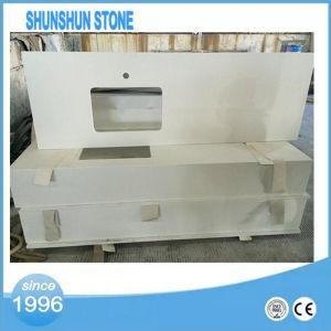 White Quartz Stone Countertop/Precut Quartz Crystal Stone Countertops pictures & photos