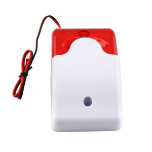Mini 12V Security Wired Flash & Sound Alarm Strobe Light Siren pictures & photos